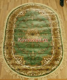 bolara-silk-0534a-green-green-oval