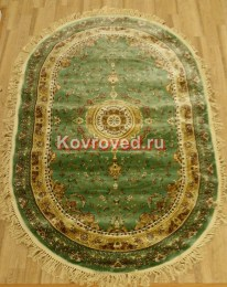 bolara-silk-0535a-green-green-oval